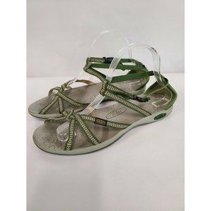 Keen Green Flat Adjustable Strappy Sandals 10.5